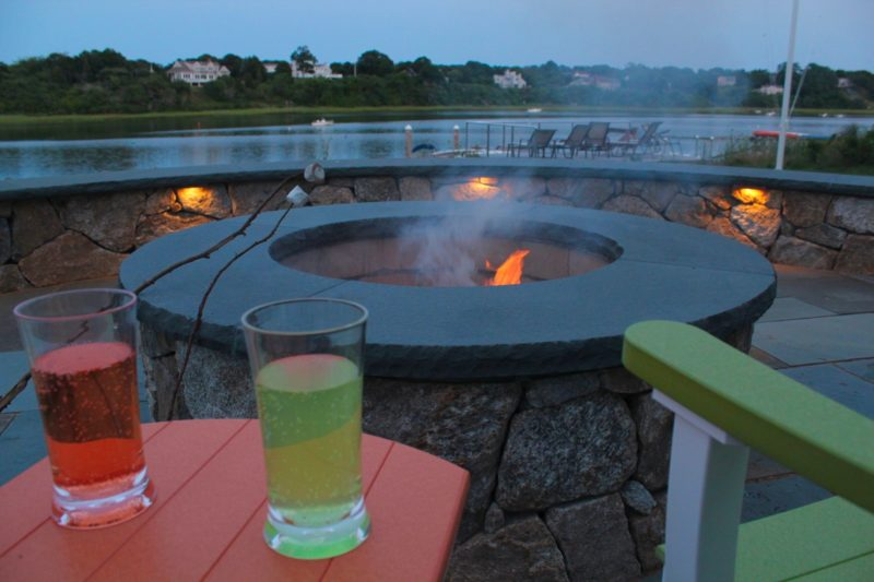Eastham Home Evening Picture of Fire Pit and Patio